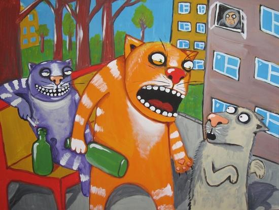 Russian artist Vasya Lozhkin painting 9