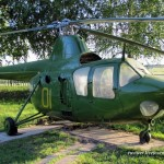 The museum of Soviet helicopters in Torzhok