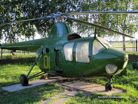 Soviet helicopters museum in Torzhok, Russia - Mi-1