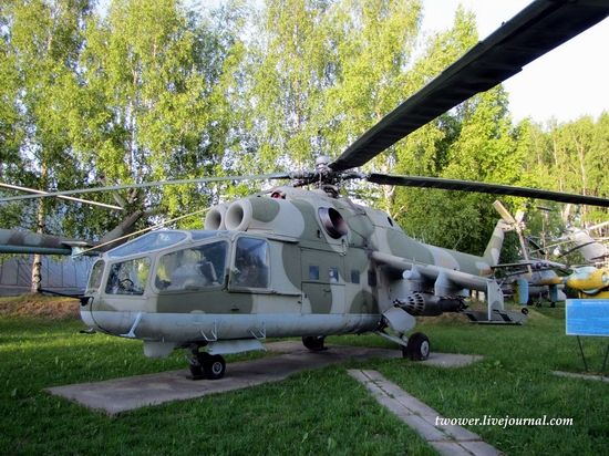 Soviet helicopters museum in Torzhok, Russia - Mi-24A