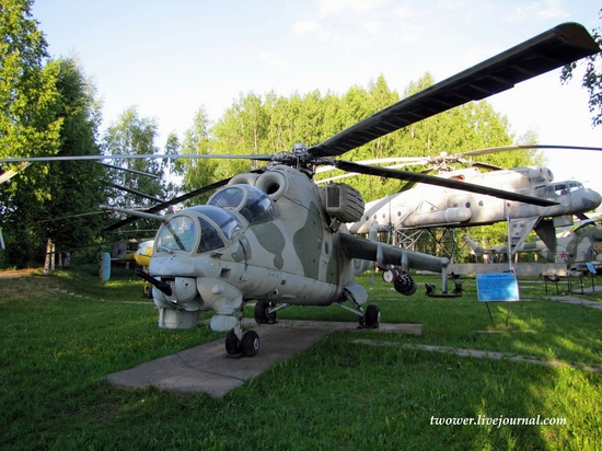 Soviet helicopters museum in Torzhok, Russia - Mi-24D