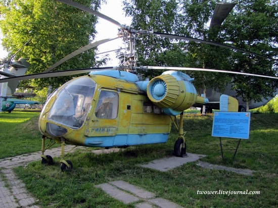 Soviet helicopters museum in Torzhok, Russia - Ka-26