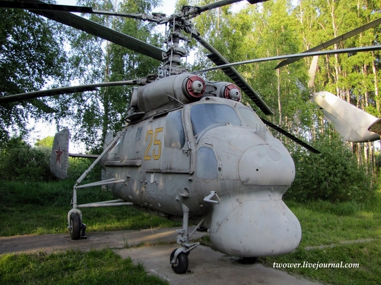 Soviet helicopters museum in Torzhok, Russia - Ka-25