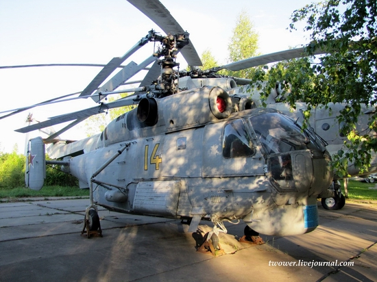 Soviet helicopters museum in Torzhok, Russia - Ka-27
