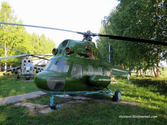 Soviet helicopters museum in Torzhok, Russia - Mi-2
