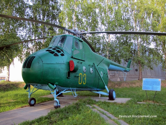 Soviet helicopters museum in Torzhok, Russia - Mi-4