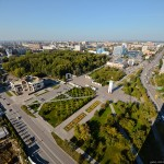 The views of Tyumen from the city's tallest building
