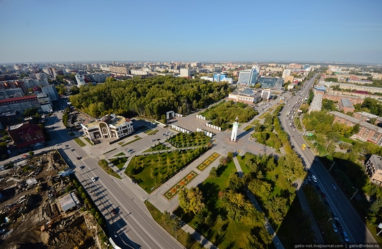 Tyumen, Russia view from the city's tallest building 1