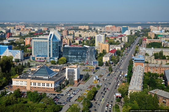 Tyumen, Russia view from the city's tallest building 6