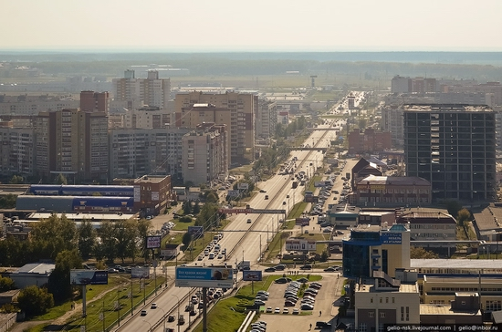 Tyumen, Russia view from the city's tallest building 9