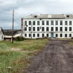 Abandoned school of Teriberka, Kola Peninsula