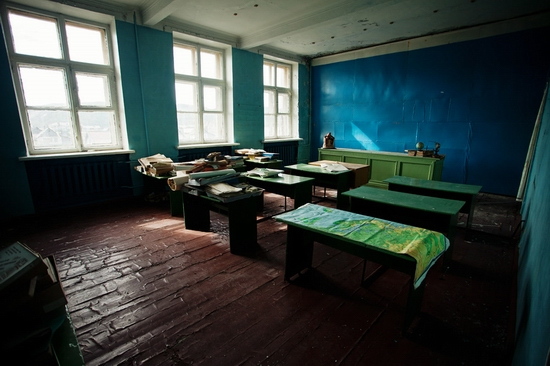 Abandoned school, Teriberka, Kola Peninsula, Russia view 11