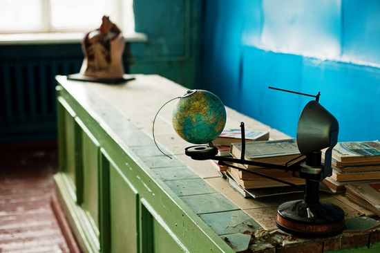Abandoned school, Teriberka, Kola Peninsula, Russia view 12