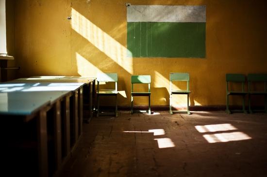 Abandoned school, Teriberka, Kola Peninsula, Russia view 16