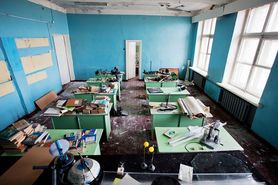 Abandoned school, Teriberka, Kola Peninsula, Russia view 17