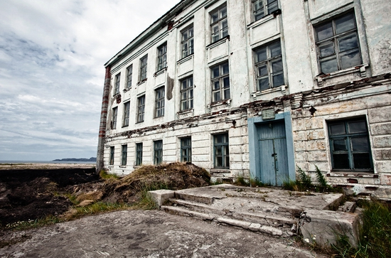 Abandoned school, Teriberka, Kola Peninsula, Russia view 2