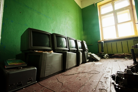 Abandoned school, Teriberka, Kola Peninsula, Russia view 4