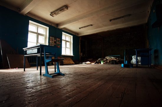 Abandoned school, Teriberka, Kola Peninsula, Russia view 8