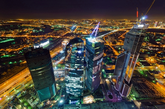 Moscow, Russia tallest building view 2