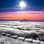 The views of Pyatigorsk and the mountains around it