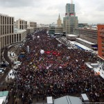 """The rally """"For Fair Elections"""" on Sakharov Avenue, Moscow"""