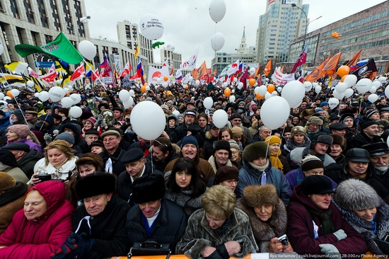 Sakharov Avenue, Moscow protest December 24, 2011 view 7