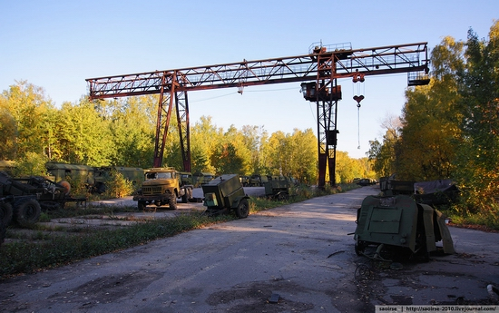 Abandoned base of Soviet military equipment view 10