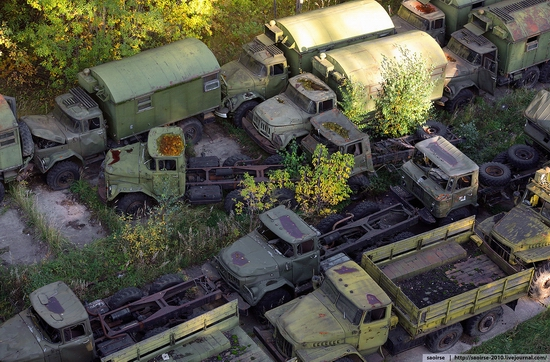 Abandoned base of Soviet military equipment view 13