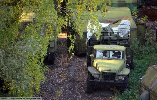 Abandoned base of Soviet military equipment view 14