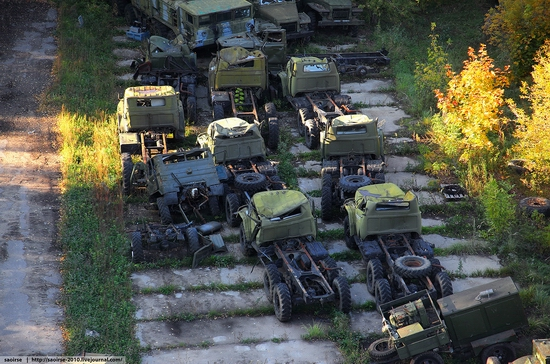 Abandoned base of Soviet military equipment view 15