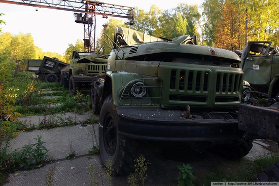 Abandoned base of Soviet military equipment view 16