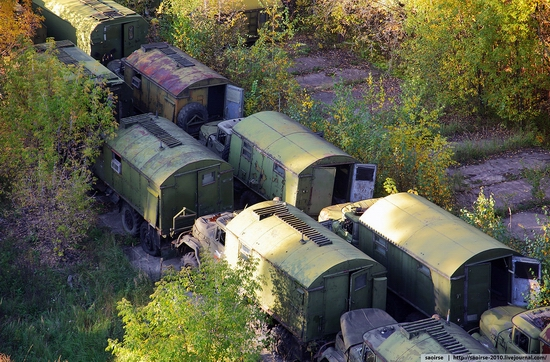 Abandoned base of Soviet military equipment view 18