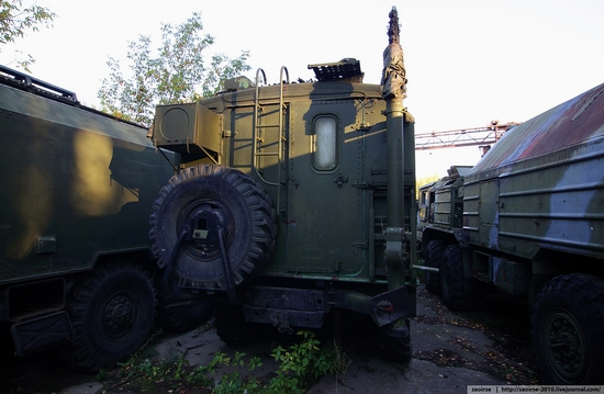 Abandoned base of Soviet military equipment view 19