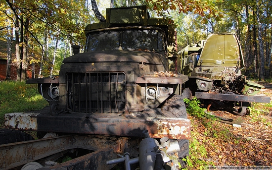 Abandoned base of Soviet military equipment view 2