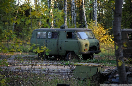 Abandoned base of Soviet military equipment view 23