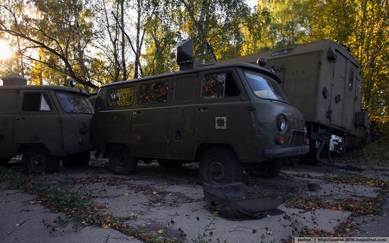 Abandoned base of Soviet military equipment view 24
