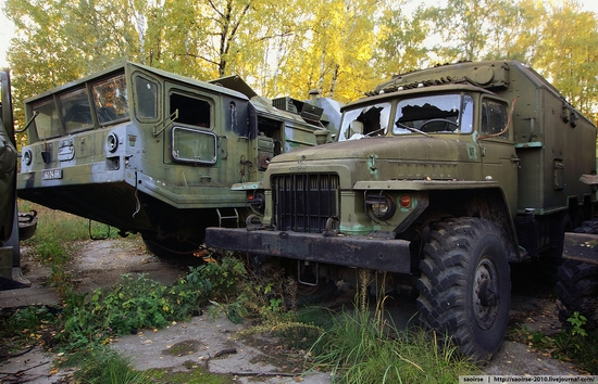 Abandoned base, Soviet military equipment, Russia