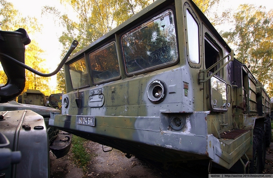 Abandoned base of Soviet military equipment view 26