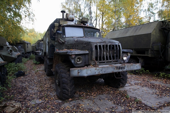 Abandoned base of Soviet military equipment view 29