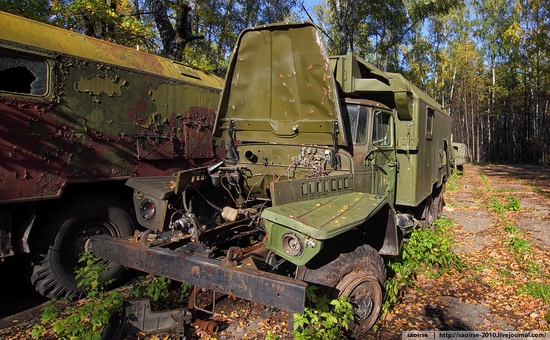 Abandoned base of Soviet military equipment view 4
