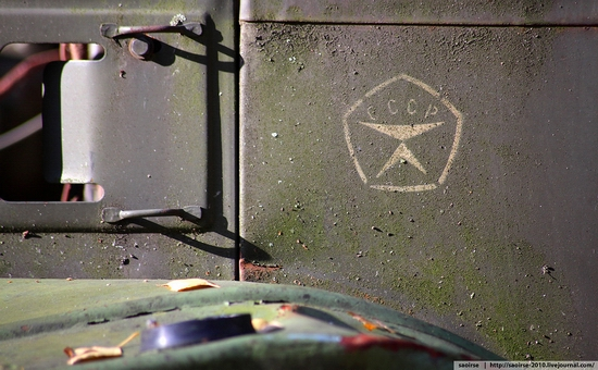 Abandoned base of Soviet military equipment view 5