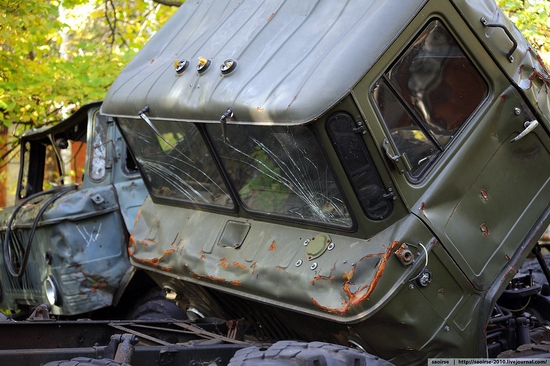 Abandoned base of Soviet military equipment view 6
