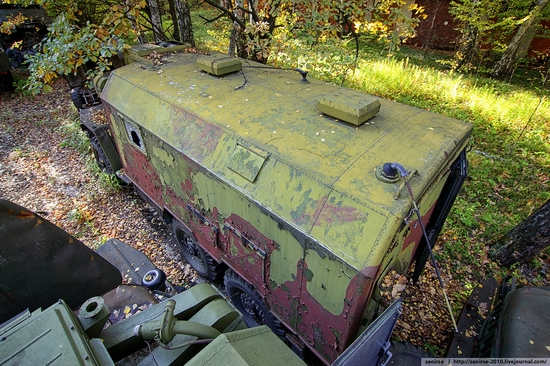 Abandoned base of Soviet military equipment view 7