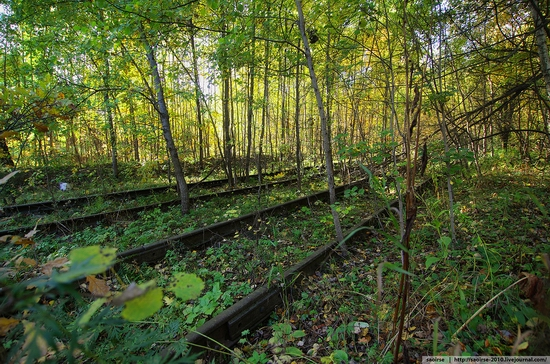 Abandoned base of Soviet military equipment view 8