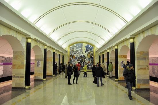 Admiralteyskaya metro station, Saint Petersburg, Russia view 1