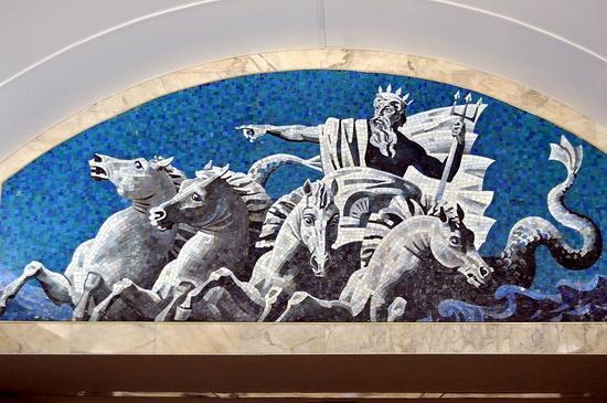 Admiralteyskaya metro station, Saint Petersburg, Russia view 10