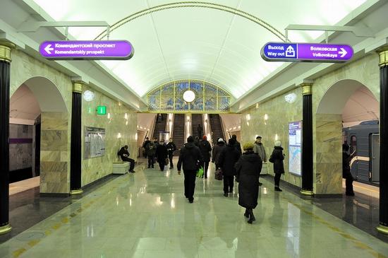 Admiralteyskaya metro station, Saint Petersburg, Russia view 11