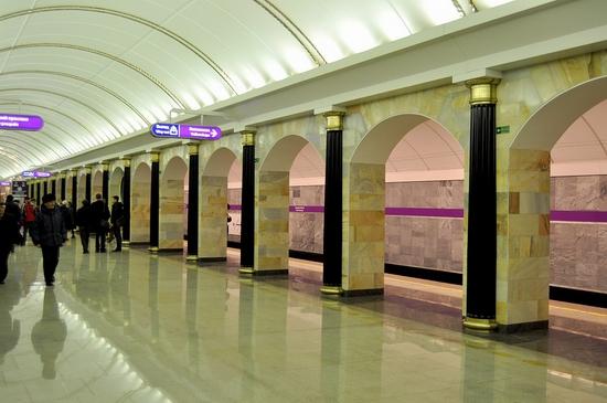 Admiralteyskaya metro station, Saint Petersburg, Russia view 12