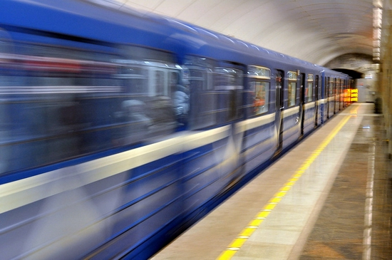 Admiralteyskaya metro station, Saint Petersburg, Russia view 17