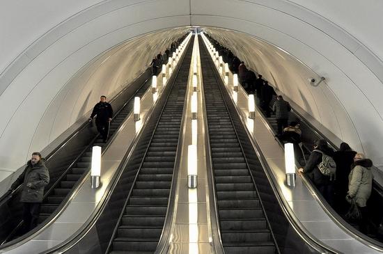 Admiralteyskaya metro station, Saint Petersburg, Russia view 6